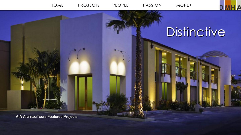 DMHA Architects website built by Aquatic in San Francisco
