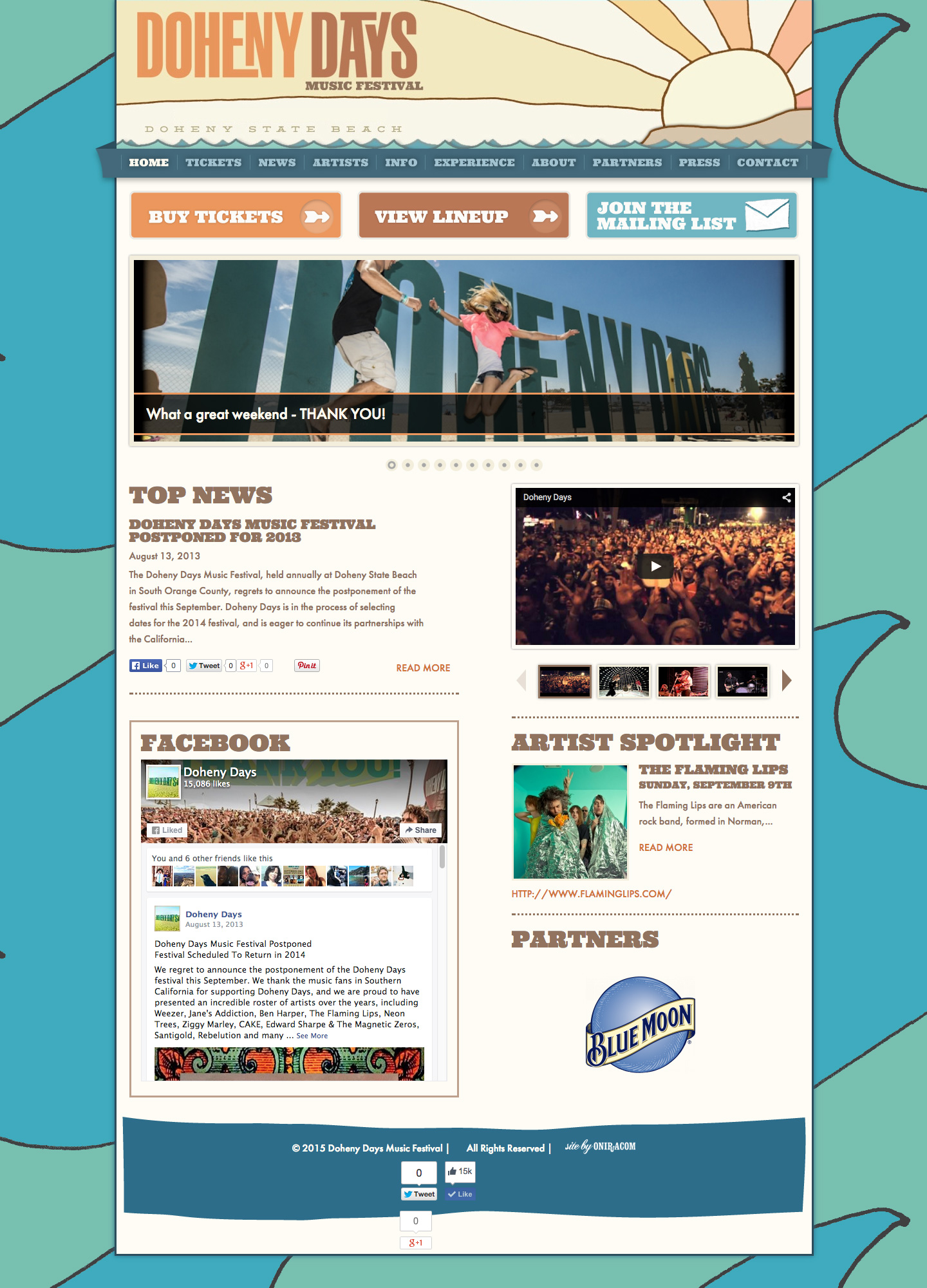 Doheny Days website built by Aquatic in San Francisco