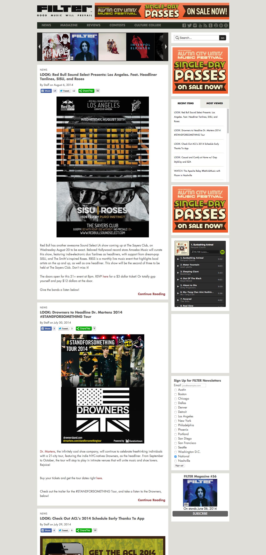 Filter Magazine website built by Aquatic in San Francisco