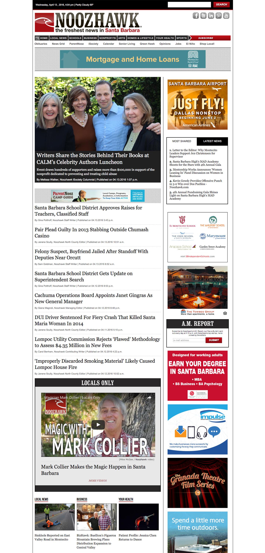 Noozhawk website built by Aquatic in San Francisco