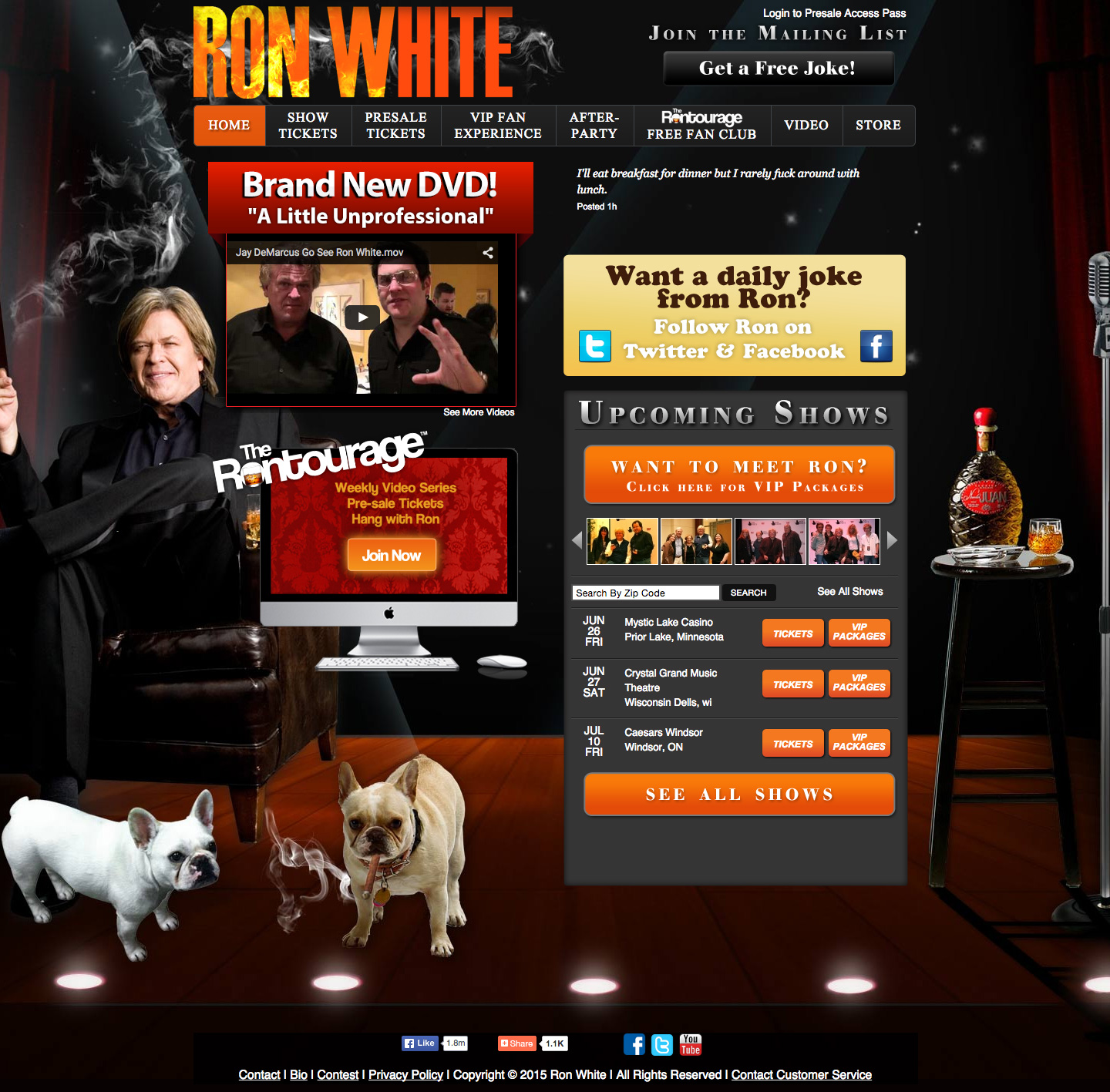Ron White website built by Aquatic in San Francisco