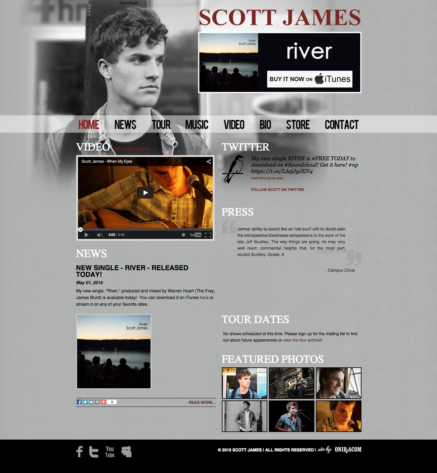 Scott James website built by Aquatic in San Francisco