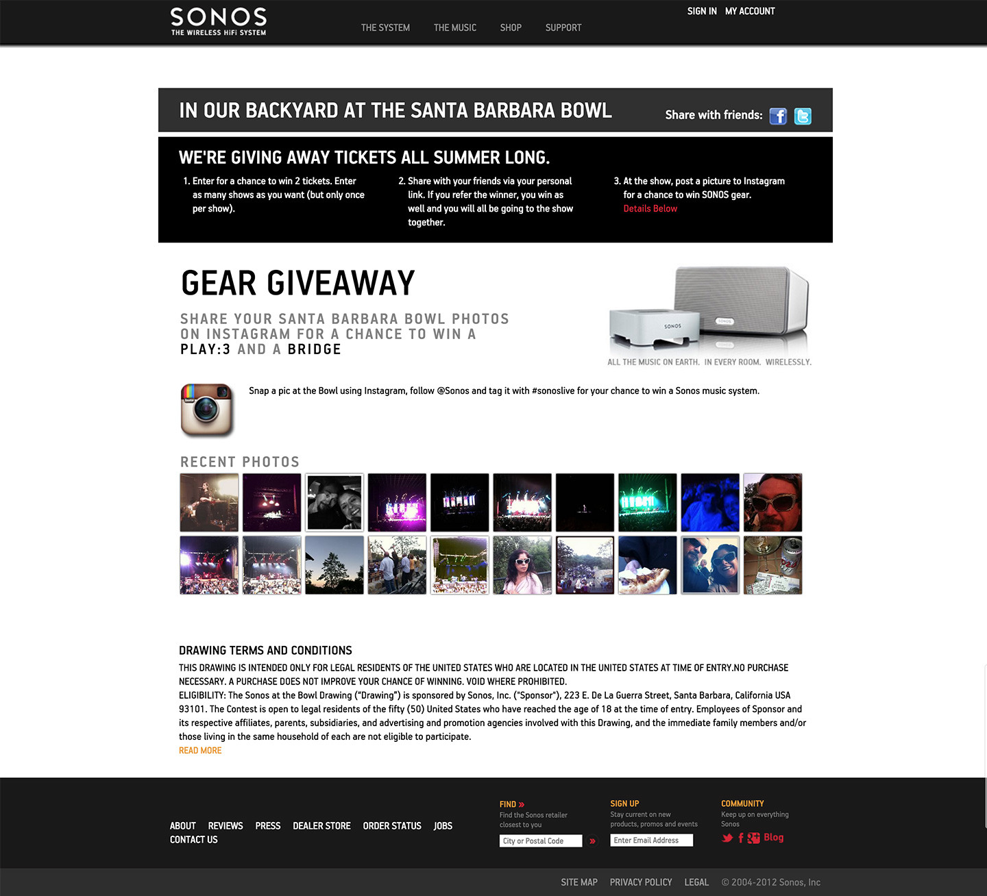Sonos website built by Aquatic in San Francisco