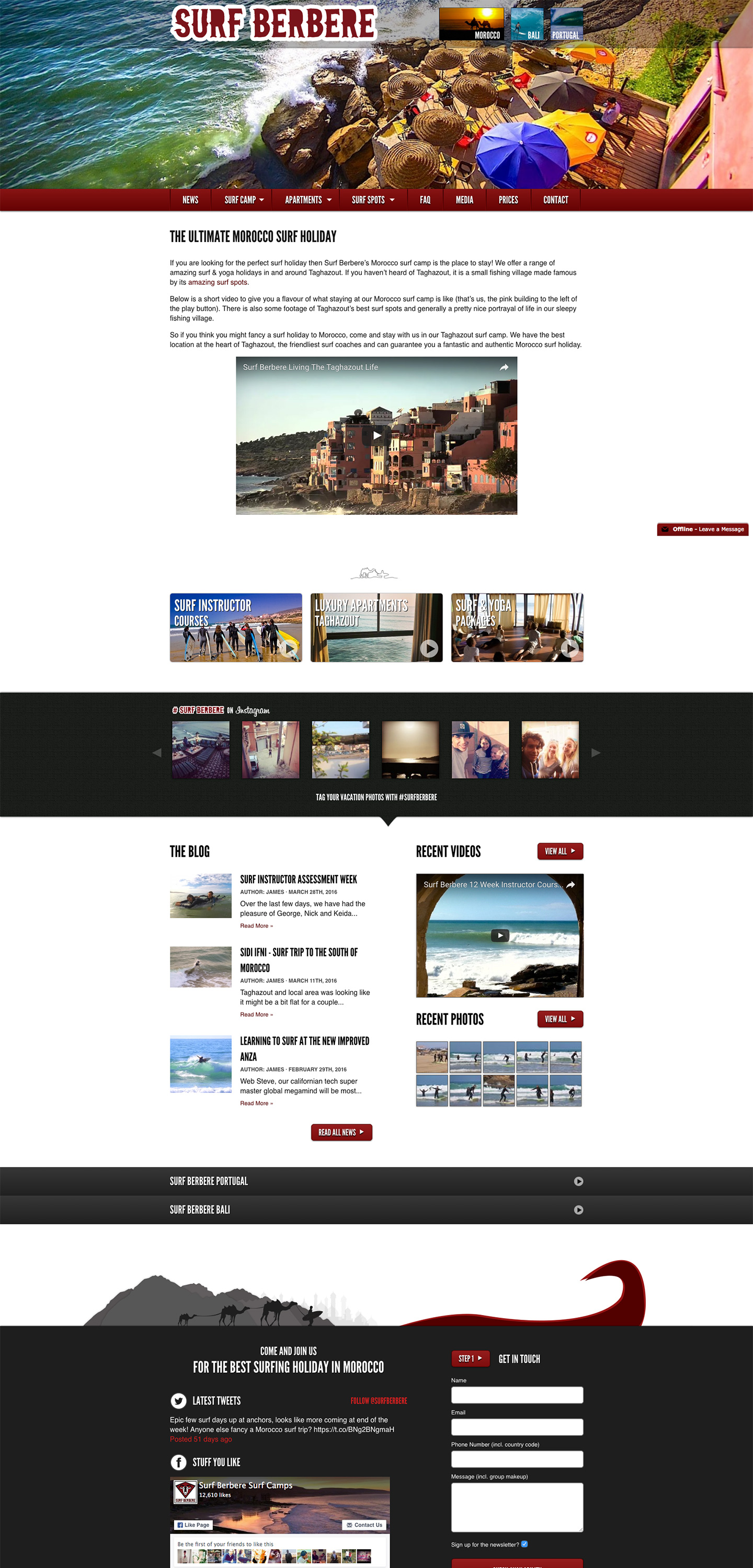 Surf Berbere website built by Aquatic in San Francisco