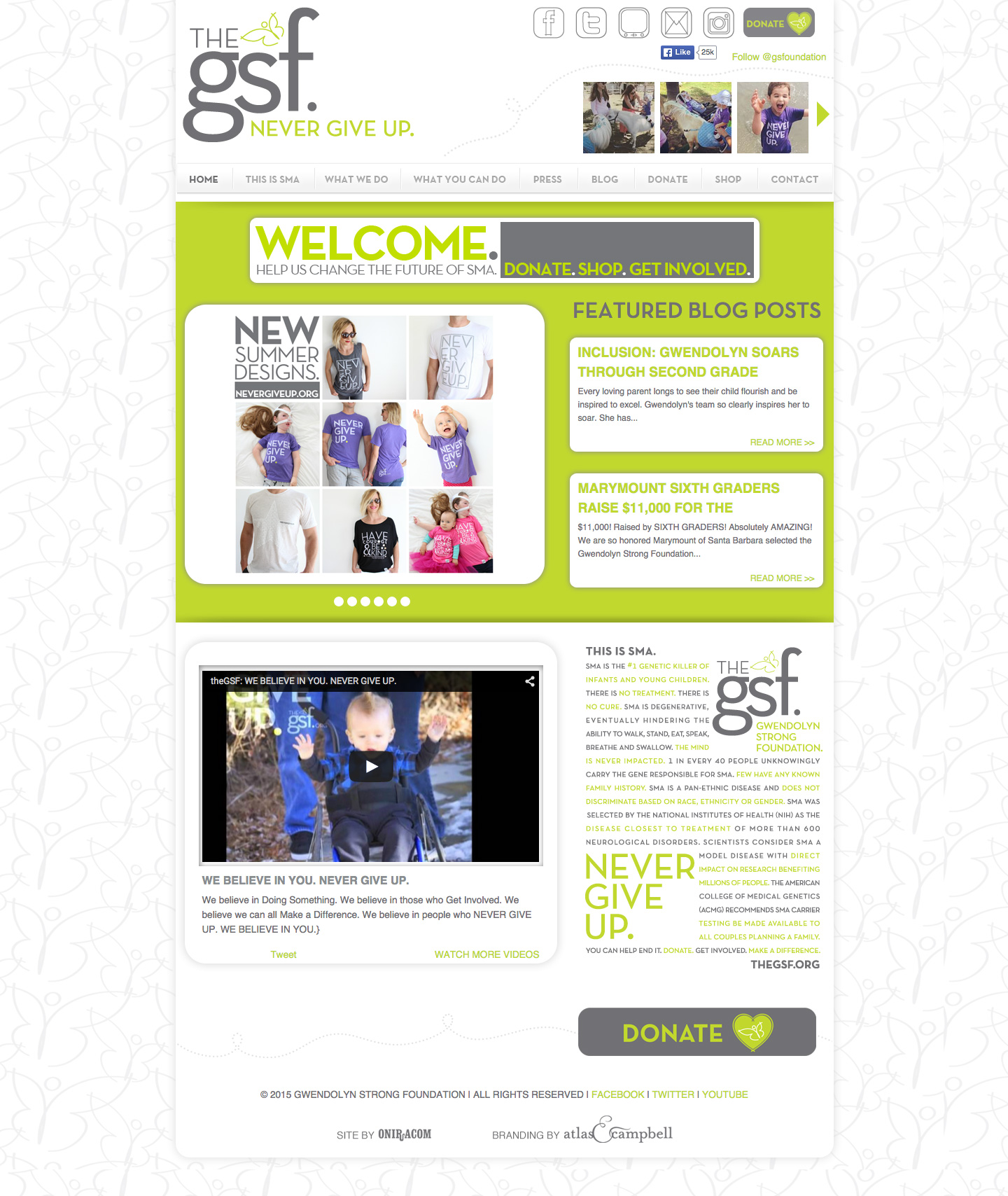 The GSF website built by Aquatic in San Francisco